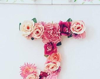 Floral Letter, Floral Wall Hanging Letter