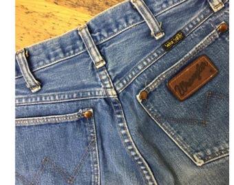 70s Wrangler highwaisted jeans, 29x35, Hippie, Boho, Mom jeans