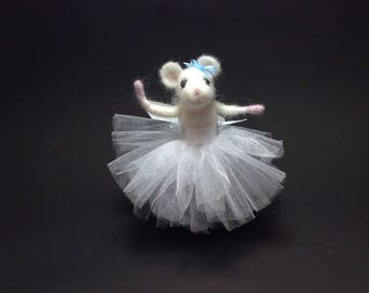Felted Mouse Ballerina