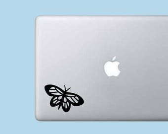 Cute Butterfly Decal Sticker - Vinyl Decal Sticker - Cute Sticker - Laptop Sticker - Wall Decor - Monarch Butterfly - Car Decal