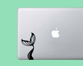 Cute Mermaid Tail Decal Laptop Stickers - Beach Car Decal - Vinyl Decal Sticker - Wall Decor - Planner Sticker - Cute Sticker - Gift for Her