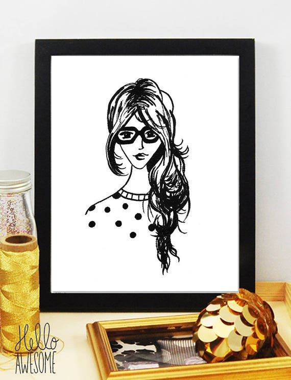 Penelope Modest Fashion Illustration 8x10 Print