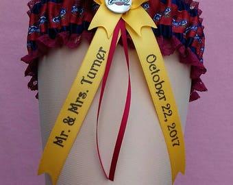 St Louis Cardinals Personalised Wedding Garter