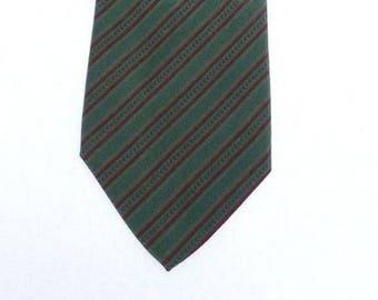 Yves Saint Laurent paris tie cravat 100% silk man bordeaux green vintage
