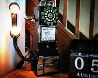 Vintage American Diner Style Telephone Light