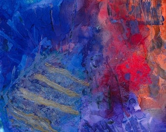 Textures Vibrant Colors Abstract Wall Decor Original Alcohol Inks Painting Limited Edition Giclee Print