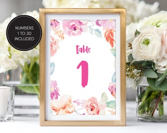 Printable Table Numbers/ Instant Download/ Wedding Table Numbers/ Wedding Printable/ PDF/ Download/ Custom/ Hannah suite #057-10
