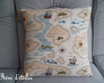 Treasure map cotton Cushion cover