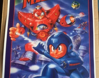 Sale on NOW Mega man 5 nes  game Poster Print In A3 #retrogaming please read description