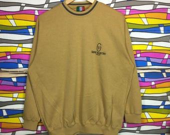 Rare!! Gianni Valentino Sweatshirt Spellout Small Logo