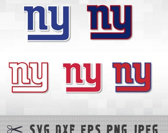 New York Giants SVG PNG DXF Logo Layered Vector Cut File Silhouette Studio Cameo Cricut Design Template Stencil Vinyl Decal Transfer Iron on