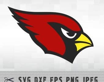Arizona Cardinals SVG DXF PNG Logo Layered Vector Cut File Silhouette Studio Cameo Cricut Design Template Stencil Vinyl Decal Transfer Iron