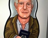 PREORDER Anthony Bourdain Inspired Plush Doll or Ornament