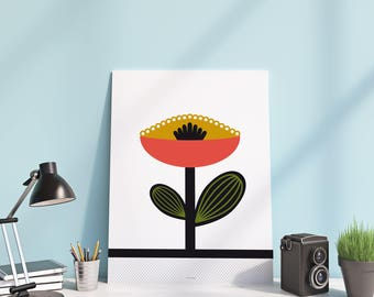 poster - 30 x 40 cm - collection vintage flower - poster