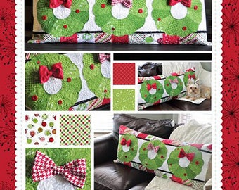 Deck the Halls Christmas Bench Pillow Quilt Pattern