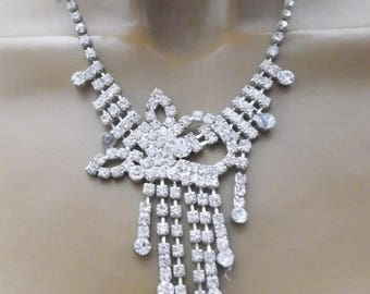 Necklace Rhinestone Years 70 vintage