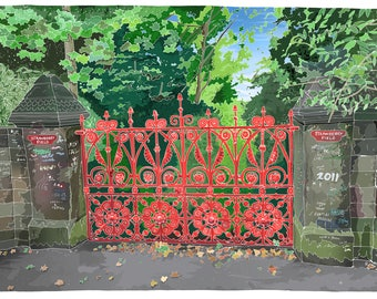 Strawberry Fields, The Beatles, Liverpool - Illustration