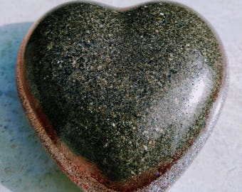 Large, personlized heart paperweight