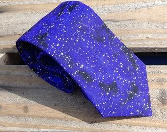 Purple Galaxy Necktie, Gold Necktie, Purple and Gold Necktie, Purple Swirl Necktie
