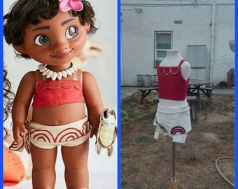 Baby and Toddler Moana Costume with flower