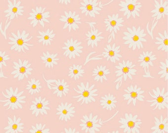 "Art gallery Wonderful things Cotton Fabric ""Flower Glory Morning ""-by Bonnie Christine - Art Gallery - Floral,Flower,Pink"