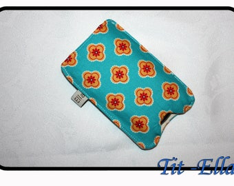 Mobile phone printed yellow flowers on blue background