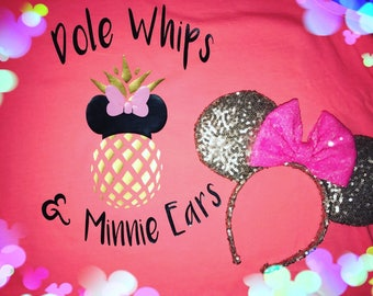 Disney dole whips and minnie ears tank, shirt, or long sleeves