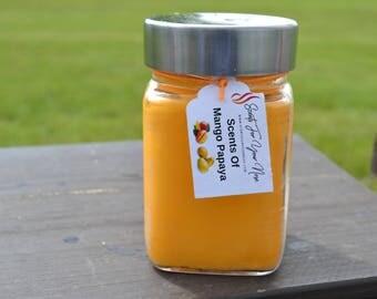 Mango Papaya scented Candle 10oz