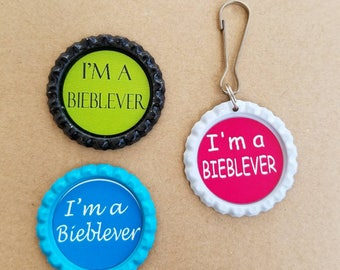 Justin Bieber Bieblever magnets and keychain set