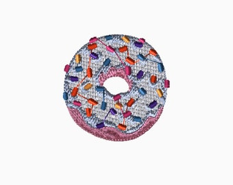 4x4 Embroidery File: Donut, Choose Your Size and Format, Digital File, PES, DST, XXX, Customizable, Embroidery, Machine Embroidery
