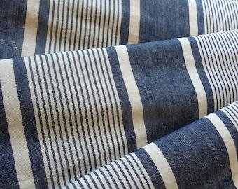 Antique French ticking indigo blue authentic mattress ticking original French mattress cover