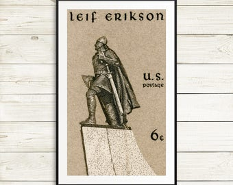 leif erikson iceland history, erikson leif classroom decorations, US history, literary history, erikson viking erikson, history posters art