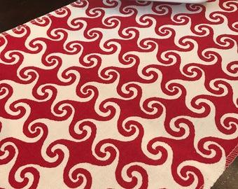Christmas Table Runner | Swirl Red Table Runner | Red White Christmas Table Runner | Christmas Centerpiece | Wedding | Decor | Tablescape