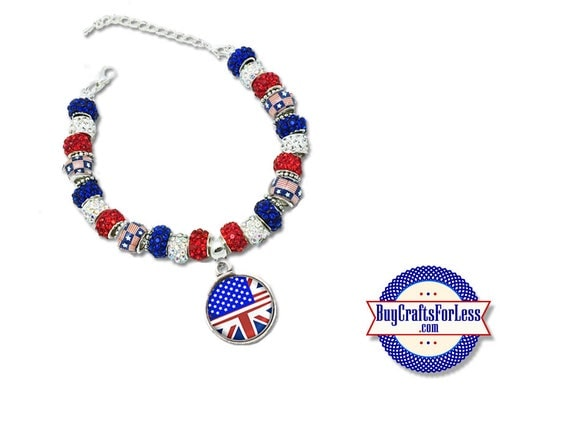 USA - UK Bracelet Honoring Our Friendships - One Love - London - Manchester **FREE Shipping**