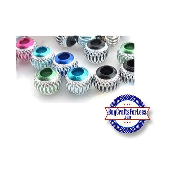 BEADs, Carved Aluminum Beads, 8, 16 or 25 pcs Asst'd +FREE Shipping & DISCOUNTS **