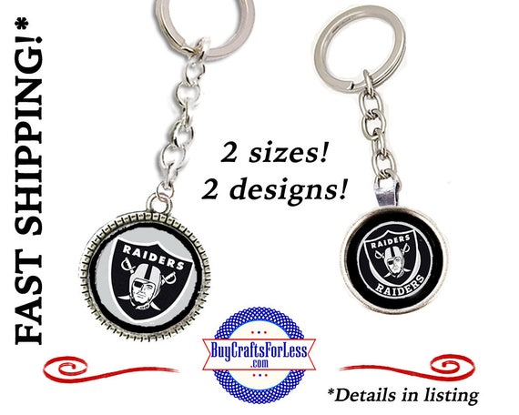 RAIDERS Football KEY RiNG, CHooSE Size, Design - Super CUTE!  +FReE SHiPPiNG & Discounts*