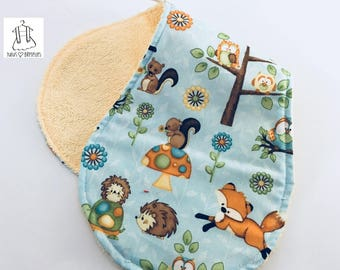 Shoulder towel - forest animals