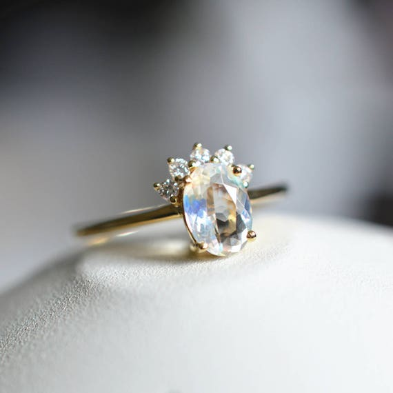 like this item - Moonstone Wedding Ring