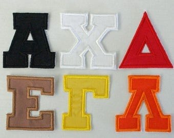 4 Inch Greek Alphabet Sorority Letters Fraternity Embroidery Iron
