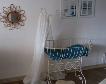 Vintage wrought iron cradle