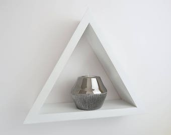 Triangle Shelf Crystal Shelf Pentagram Shelf Reclaimed Wood Shelf Pyramid Shelf Wooden Shelving