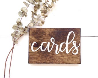 Cards sign | wedding gifts sign, rustic wedding decor, rustic wedding signs, rustic wood signs, wood cards sign, card sign wood