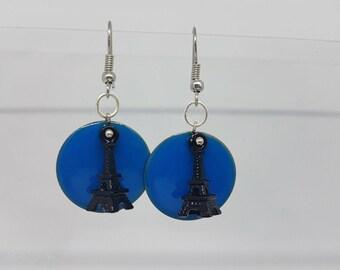Earrings - black Eiffel Tower