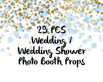 29PCS Wedding Photo Booth Props, Party Props, Photo Booth Props, Party Supplies, Party Decor, Party, Photo props, Wedding Props, Wedding