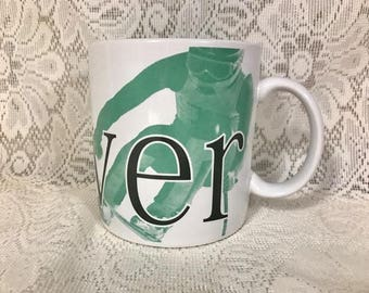 Vintage Denver Starbucks Mug, Oversize 20 ounces, Jumbo Mug Cup, Coffee, 1994 City Mug, Jerry Greer Jan Belson, Collector's Series, Ski