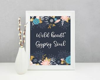 Quote Print, Whimsical Print, Wall Art, Boho Prints, Digital Prints