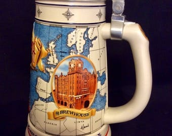 "Anheuser-Busch ""Membership Stein"" 1996 with lid"