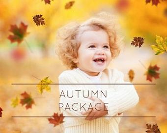 38 Autumn Overlays, fall leaves, autumn leaves, fall overlay, photoshop overlays, digital art, smoke overlays, rain overlays