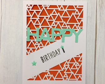 C022 - Handmade Happy BirthdayGreeting Card - Birthday Card