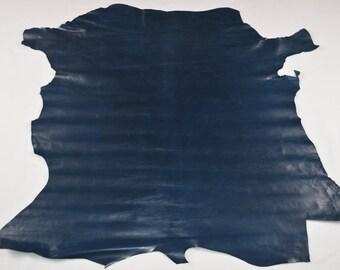 Peau de cuir de veau bleu pétrole